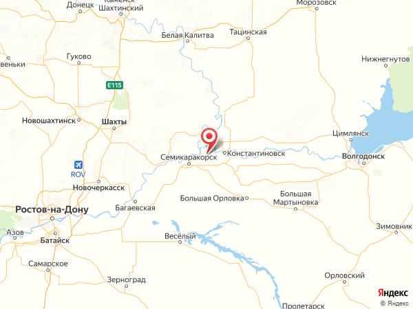 станица Новозолотовская на карте