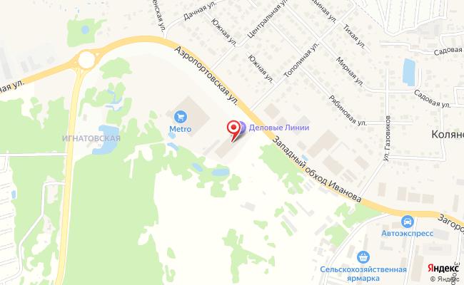 Карта расположения пункта доставки DPD Pickup в городе Игнатово