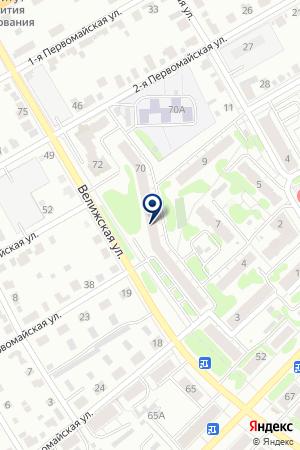 АДВОКАТСКИЙ КАБИНЕТ ВОСТРЯКОВА С.М. на карте Иваново