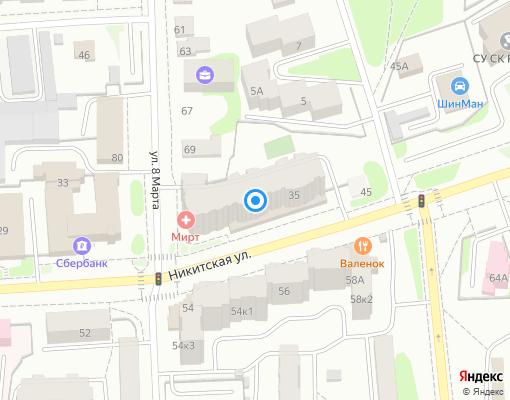 Товарищество собственников недвижимости «Самоцветы» на карте Костромы