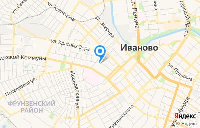 Местоположение на карте пункта техосмотра по адресу г Иваново, ул Парижской Коммуны, д 16