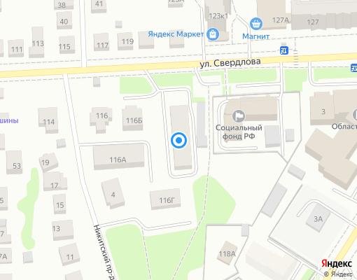 Товарищество собственников жилья «МАЯК» на карте Костромы