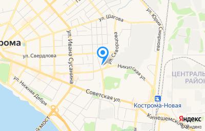 Местоположение на карте пункта техосмотра по адресу г Кострома, ул Никитская, д 45А