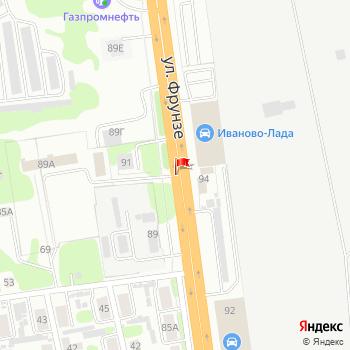 г. Иваново, ул. Фрунзе, на карта