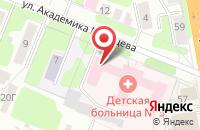 Схема проезда до компании Детская городская клиническая больница №1 в Иваново