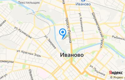 Местоположение на карте пункта техосмотра по адресу г Иваново, ул Жиделева, д 1