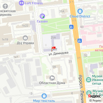 г. Иваново, просп. Ленина,25А на карта