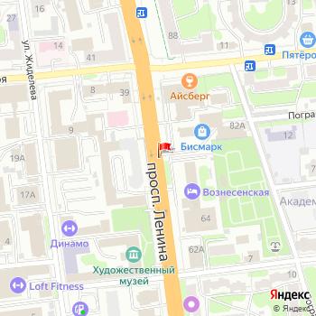 г. Иваново, просп. Ленина, на карта