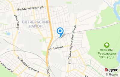 Местоположение на карте пункта техосмотра по адресу г Иваново, ул Гнедина, д 20