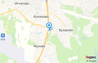 Местоположение на карте пункта техосмотра по адресу Ивановская обл, Ивановский р-н, д Бухарово, д 2А
