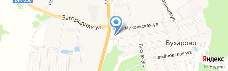АЗС Ивнефтеторг на карте Бухарово