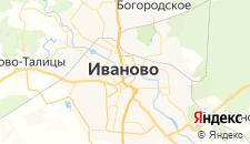 Гостиницы города Иваново на карте