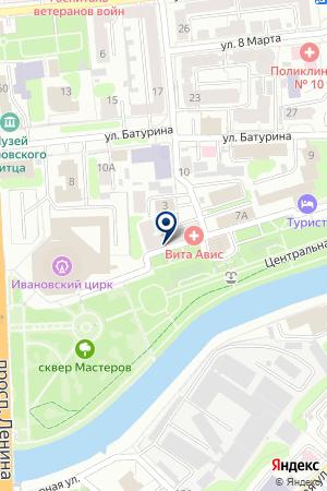 АЗС № 2 ПЕТРОЛИУМ на карте Иваново