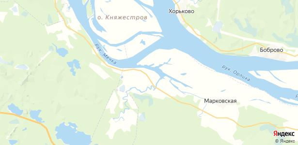 Чевакино на карте