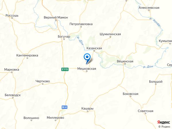 хутор Красноармейский на карте