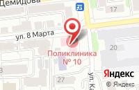 Схема проезда до компании Поликлиника №10 в Иваново