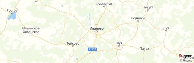 Ивановская область на карте
