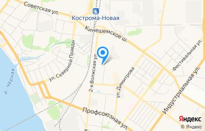 Местоположение на карте пункта техосмотра по адресу г Кострома, ул Льняная, д 4А
