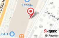 Схема проезда до компании Мебельный квартал в Иваново