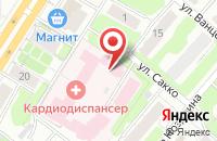 Схема проезда до компании Кардиологический диспансер в Иваново