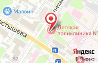 Схема проезда до компании Детская поликлиника №3 в Иваново