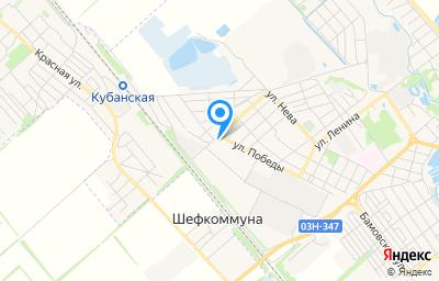 Местоположение на карте пункта техосмотра по адресу Краснодарский край, г Новокубанск, ул Победы, д 2