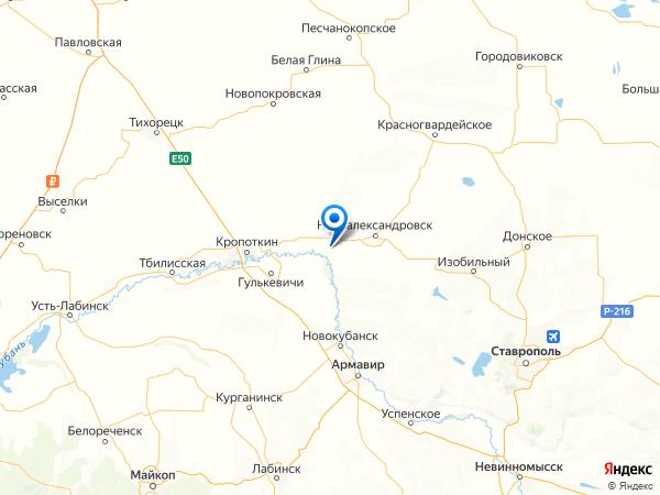 поселок Озерный на карте