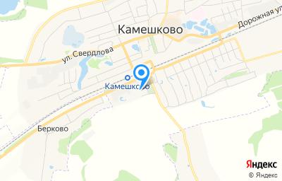 Местоположение на карте пункта техосмотра по адресу Владимирская обл, г Камешково, ул Коруновой, д 56