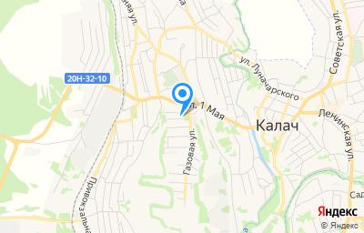 Местоположение на карте пункта техосмотра по адресу Воронежская обл, г Калач, ул Нагорная, д 1