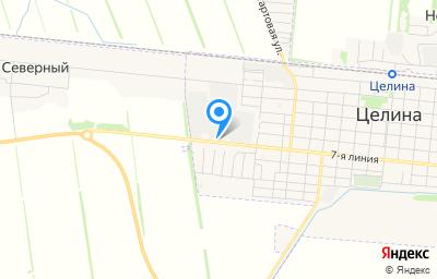 Местоположение на карте пункта техосмотра по адресу Ростовская обл, п Целина, ул 7-я линия, д 249 стр а