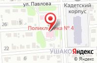 Схема проезда до компании Поликлиника №4 в Иваново