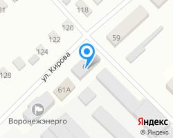 Схема местоположения почтового отделения 397611