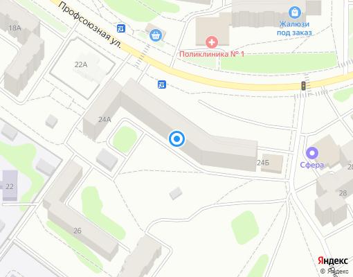 Товарищество собственников жилья «ПРОФСОЮЗНАЯ 24» на карте Костромы