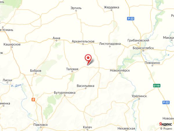 посёлок Абрамовка на карте
