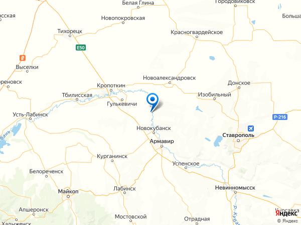 хутор Киевка на карте