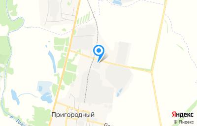 Местоположение на карте пункта техосмотра по адресу Воронежская обл, Калачеевский р-н, п Пригородный, ул Промышленников, д 20