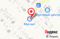 Схема проезда до компании Магнит в Глубоком