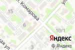 Схема проезда до компании Продовольственный магазин в Глубоком