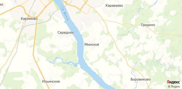 Минское на карте