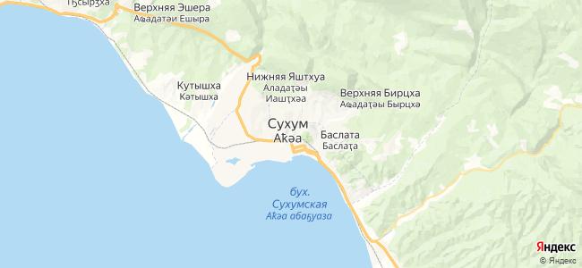Частный сектор Сухума - объекты на карте