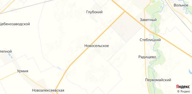 Новосельское на карте
