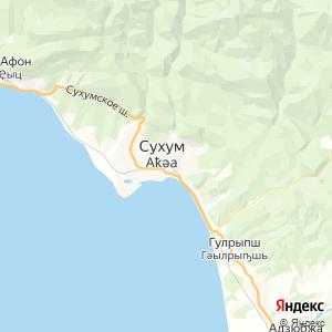 Карта города Сухума