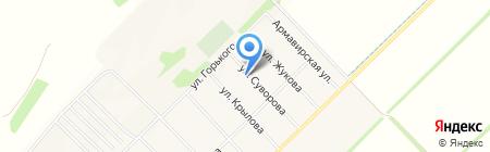 Шиномонтажная мастерская на карте Глубокого