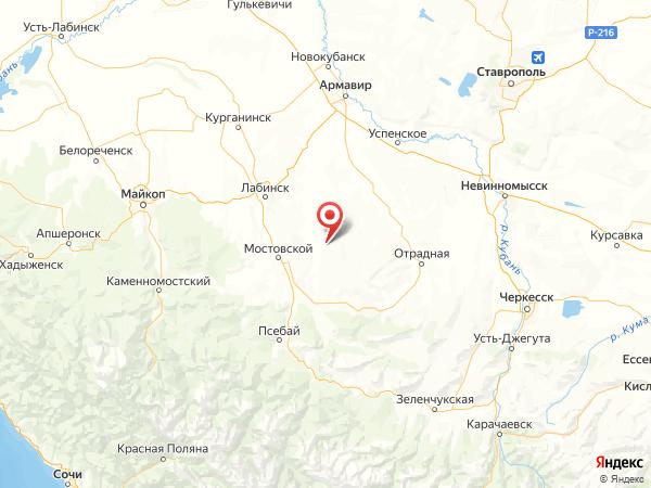 хутор Сладкий на карте