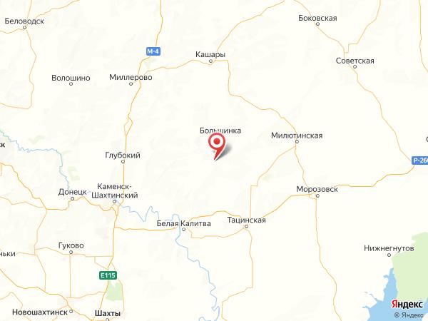 хутор Раздолье на карте
