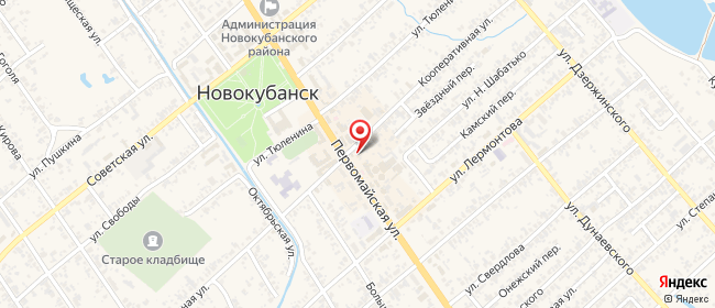 Карта расположения пункта доставки Билайн в городе Новокубанск