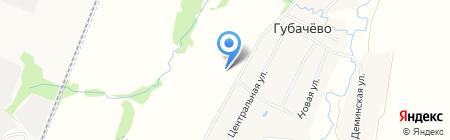 Терем-Брус на карте Губачёво