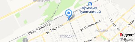 Кубаньжелдормаш на карте Армавира