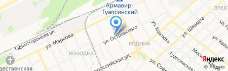Мастерская по ремонту радиоаппаратуры на карте Армавира