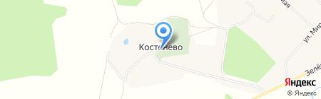 Свято-Троицкий приход с. Костенёво на карте Губачёво